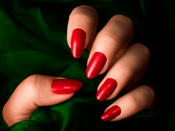 My Red-Painted Fingernail by Marlayna Fire